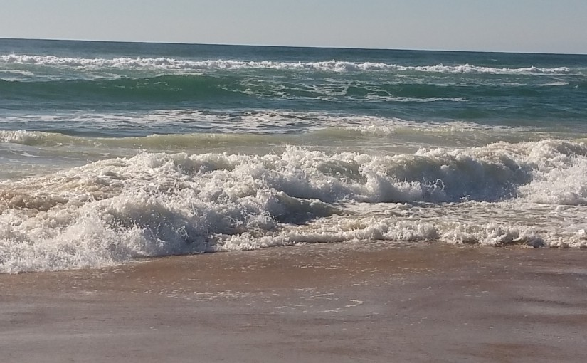 Atlantik bei Contis Plage, August 2015 © W. Barth