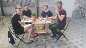 Urška Brodar (Übersetzerin Slowenien), Ivor Martinić (Autor Kroatien), Blazena Radas (Übersetzerin Kroatien), Alexander Manuiloff (Autor Bulgarien)